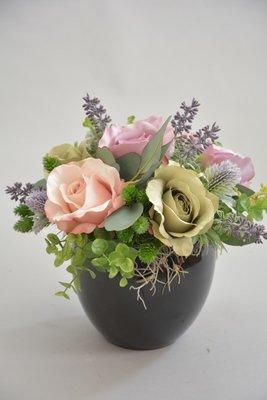 Bloemstuk, paars-roze