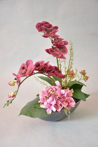 Orchidee bloemstuk paars-roze